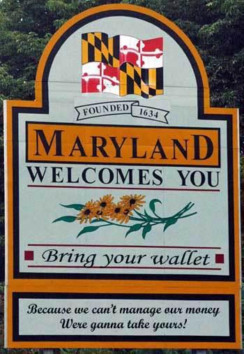 maryland welcome state states signs md wallet sign welcomes motto texas slogan tax why baltimore street festival interest transparent don